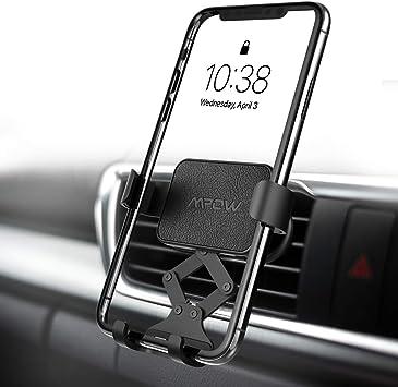 Mpow Soporte Móvil Coche Gravedad, Soporte Móvil para Rejilla del Aire, Universal 360° automático Ajustable Gravedad Porta Movil para Coche para iPhone 11/XS Max/XS/Xr/X/8/7,Galaxy S10/9/8/7,Xiaomi: Amazon.es: Electrónica