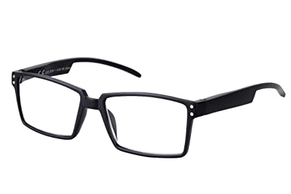 TBOC Gafas de Lectura Presbicia Vista Cansada – Graduadas +2.50 Dioptrías Montura de Pasta Negro Mate de Diseño Moda para Hombre Mujer Unisex Lentes ...