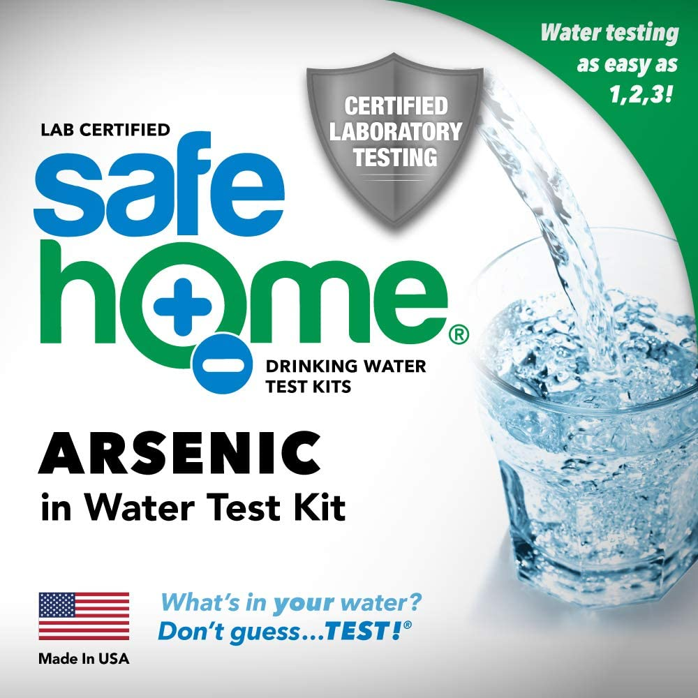 Safe Home ARSENIC in Drinking Water Test Kit – Our #1 Selling Kit for Testing TOTAL ARSENIC at Our EPA Certified Laboratory – Don't Guess. TEST!