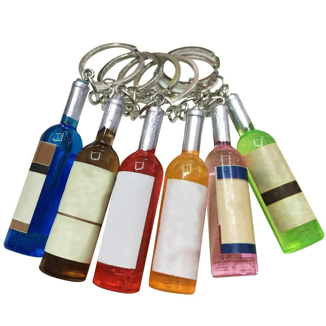 ToneStyle-U Paar Keychain Auto-Schlüsselring-Werkzeug Keychain Telefon verbunden mit Einem Handy-Bier-Flasche 4,9 cm