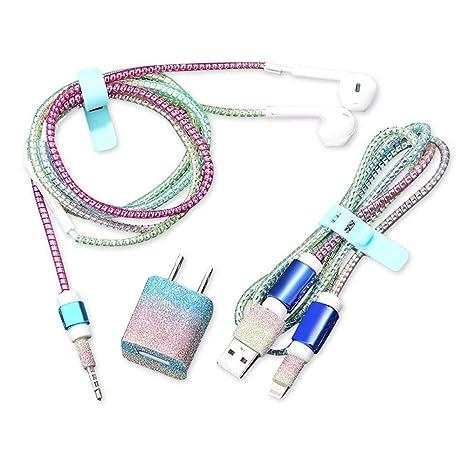 Teepao Protector de Cable USB - Etiqueta Protectora del ...
