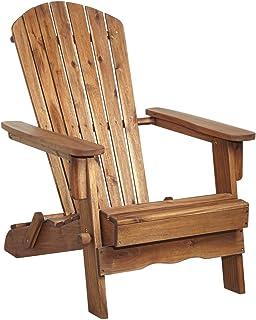 Monterey Natural Folding Adirondack Chair