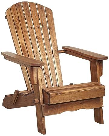 Perfect Monterey Natural Folding Adirondack Chair