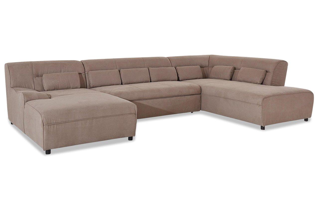 Sofa Wohnlandschaft Pepper Mit Schlaffunktion Braun Luxus