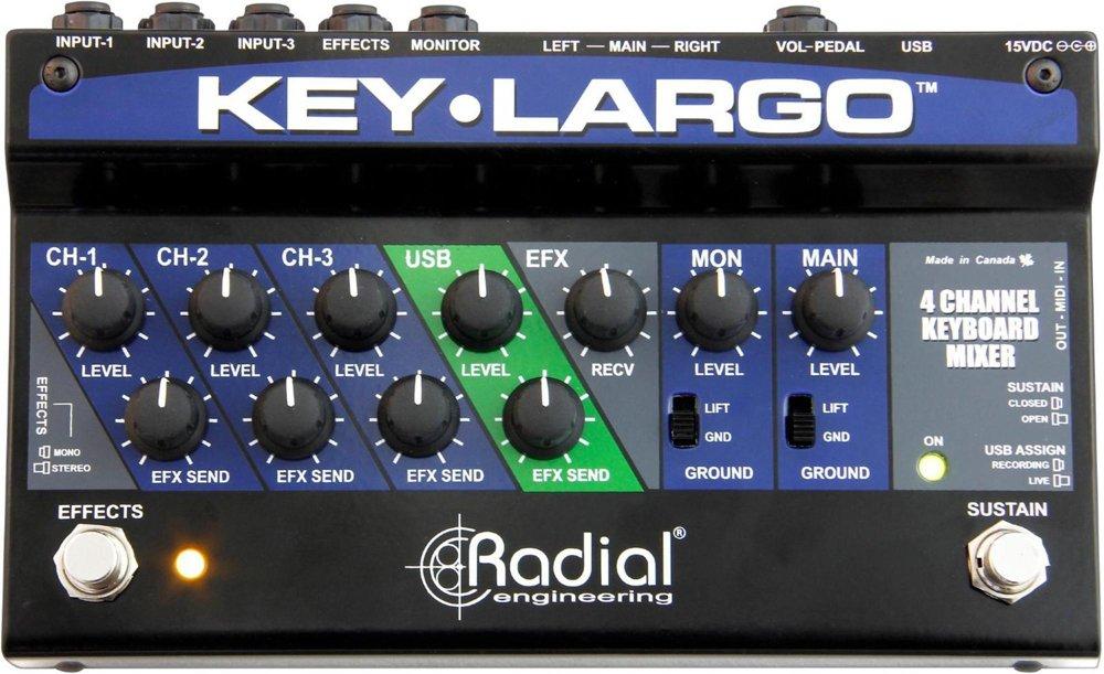 Radial Key Largo Keyboard Mixer with Balanced DI Outs