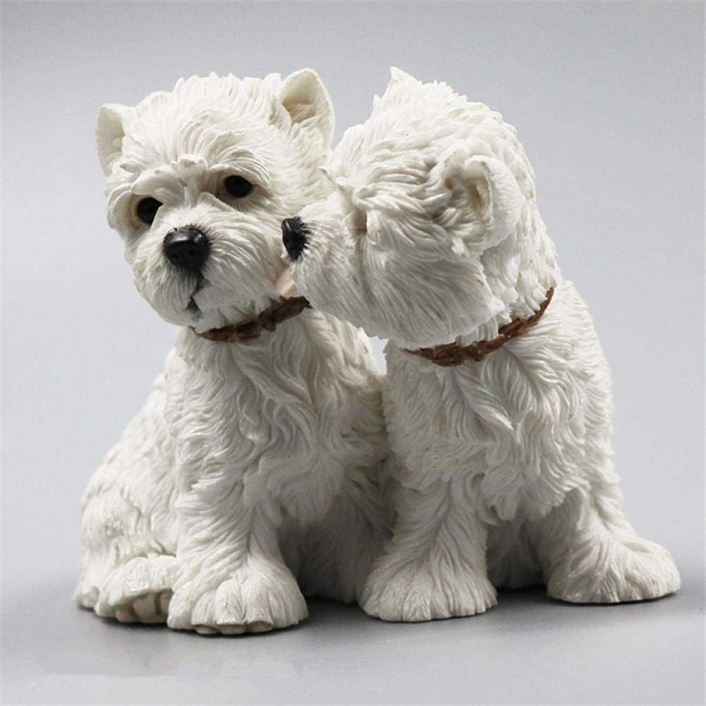 BEAUTYLE West Highland White Terrier Companion Family Pet Dog Kawaii Simulation Valentines 4Inches Craft Home Decoration Accessori