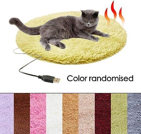 iBàste Manta calefactable para Mascotas con USB, Alfombra de Piel ...