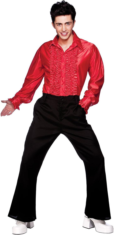 WIDMAN - Camisa para hombre estilo años 70 (talla M), color rojo: Amazon.es: Juguetes y juegos