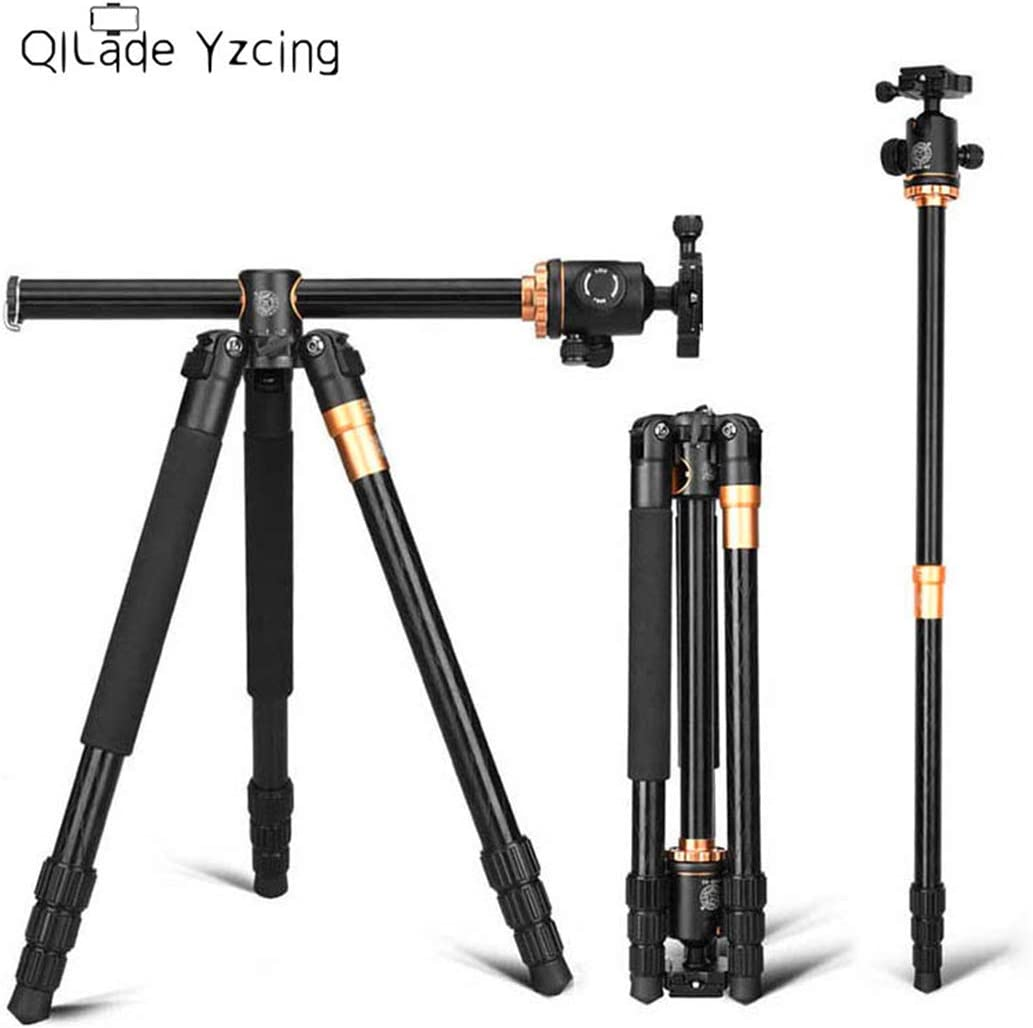 QILade Yzcing DSLR Camera Tripod Portable Aluminium Alloy Video Monopod Professional Extendable Tripods with 360 Degree Ball Head Quick Release Plate Compatible with DSLR