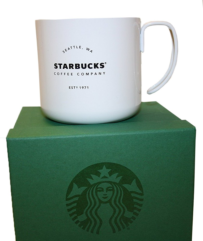 4a800c4eb5d Starbucks Stainless Steel cup with wire handle (Black)