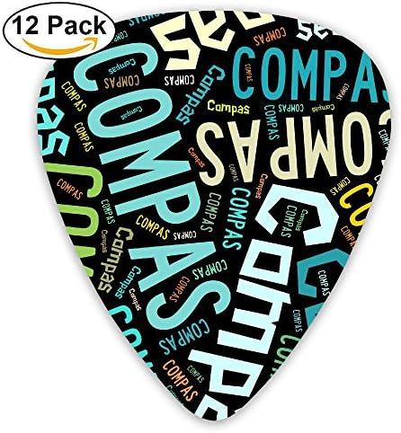 Pack de 12 púas de guitarra Compas: Amazon.es: Instrumentos musicales