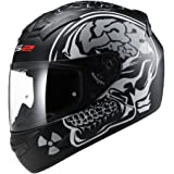 LS2 FF352-L Rookie X-Ray Full Face Helmet,(Matt Black and Grey,L)