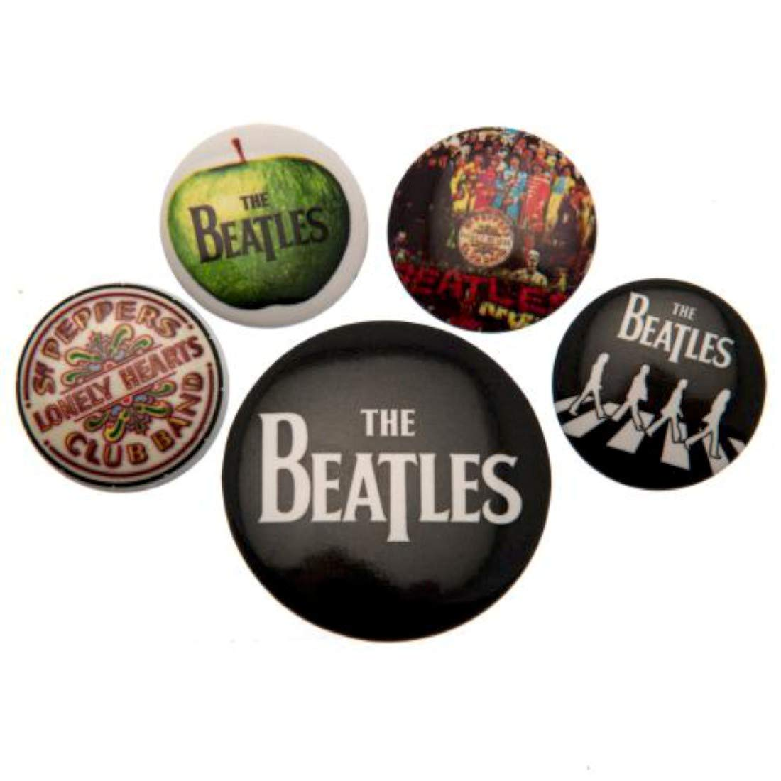 Badges The Beatles - White , x cm, 4 x 38 mm cm EuroPosters