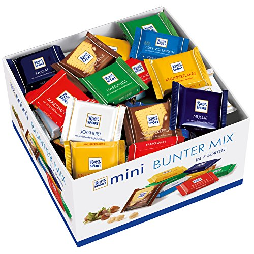 RITTER SPORT: Individual Mini Bars Display: 84 Count
