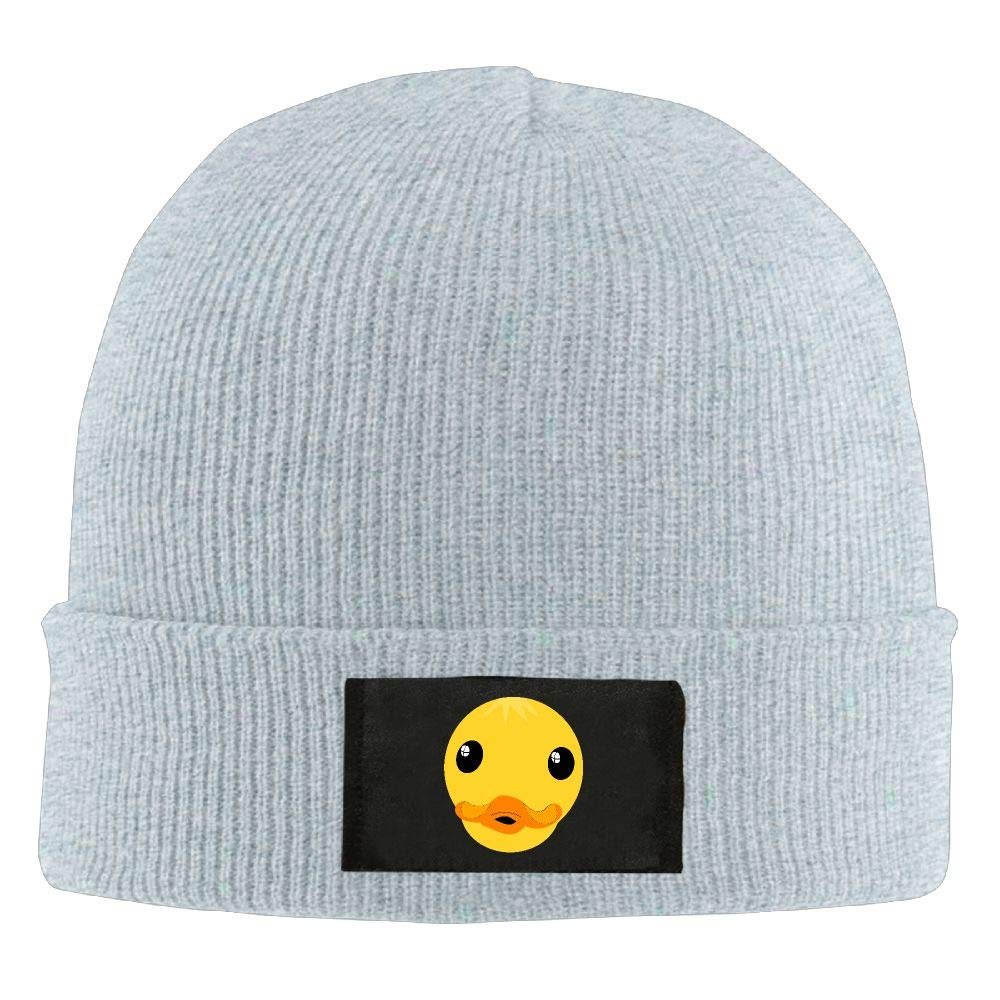 DLOAHJZH-Q Adult Unisex Clipart Duck Face Student Knitted Hat