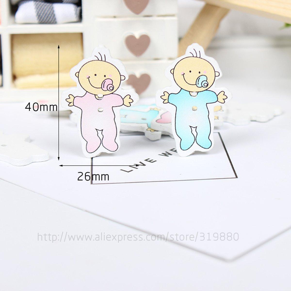 HDTTCX - Botones de madera para manualidades - Botones de madera para costura - Botón de costura para bebé Scrapbooking mezcla de dos agujeros Botón de ...