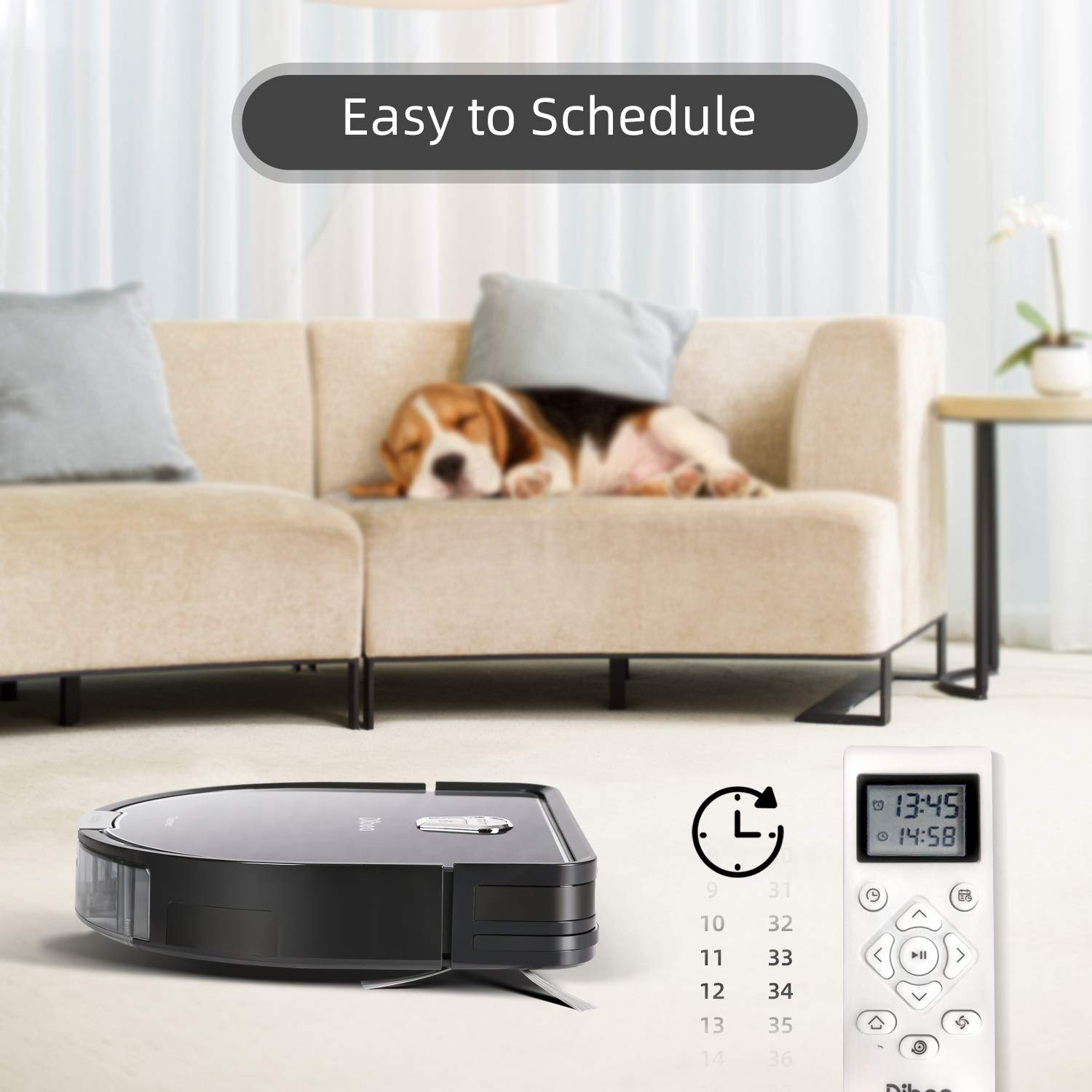 Dibea Upgraded Robotic Vacuum