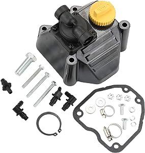 POEMQ 6655902-S Fuel Pump Rocker Cover Kit for Kohler LH630 LH640 LH685 LH690 LH750 LH755 Twin Engine Motor Replaces 66-559-02-S 66 559 02-S