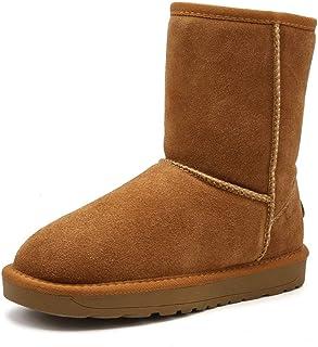 Shoe House Stivali Donna Neve Caldo Stivali Invernali Pelliccia Artificiale Fodera Leggero Stivali Slip
