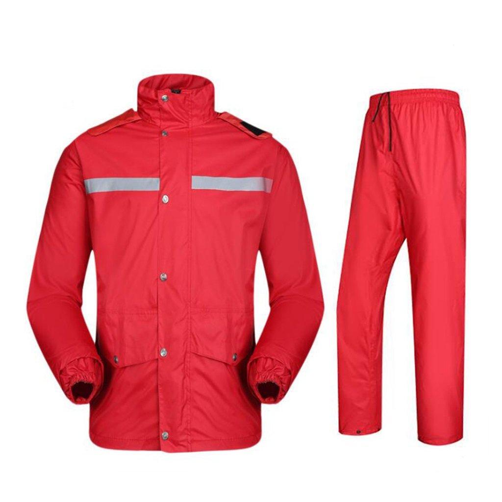 X-grand NYDZDM VêteHommests de Pluie imperméable Costume de Pluie pour Les Hommes Veste de Pluie réutilisable et Pantalons de Pluie Ensemble Adultes antipluie Coupe-Vent à Capuche Travail en Plein air