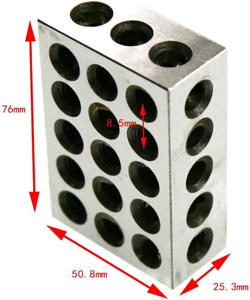 UAUS 1-2-3 BLOCK SET 0.0001 PRECISION MATCHED MILL MACHINIST 123 23 HOLES