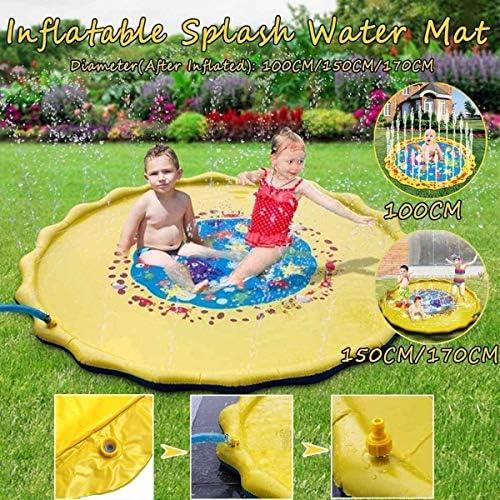 インフレータブルプールインフレータブルウォータープレイマットPVC幼児水中ウォーターパッドスプリンクラーマットレス屋外スプレー(色:150CM、サイズ:A)、サイズ:A、カラー:150センチメートルを (Color : 170cm, Size : A)