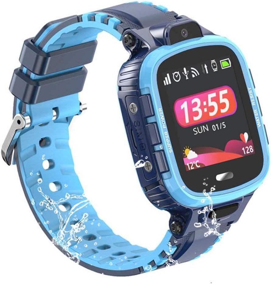 9Tong Pantalla Táctil GPS para Niños Relojes Reloj del Teléfono del Niño de la Alarma Música Relojes GPS para Niños con Cámara de Llamada SOS de Juegos a Prueba de Agua