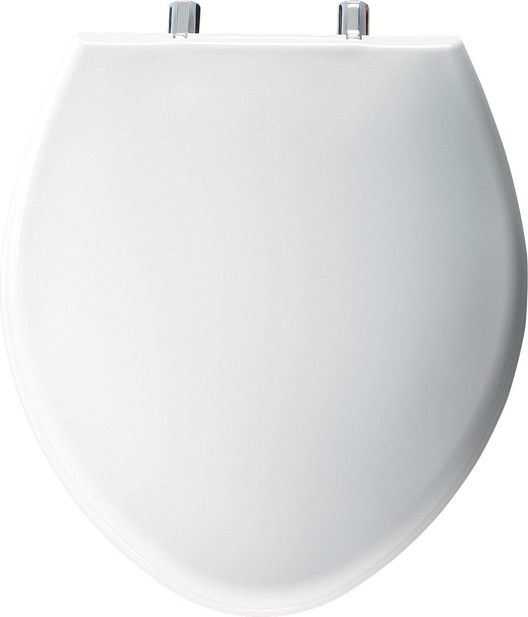 Bemis 1000CP000 1000CPT 000 Paramount Plastic Elongated Toilet Seat White by Bemis (Image #1)