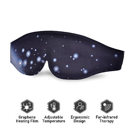Antifaz para Dormir – Máscara de Ojos Caliente Máscara de Sueño con Calefacción por USB Temperatura