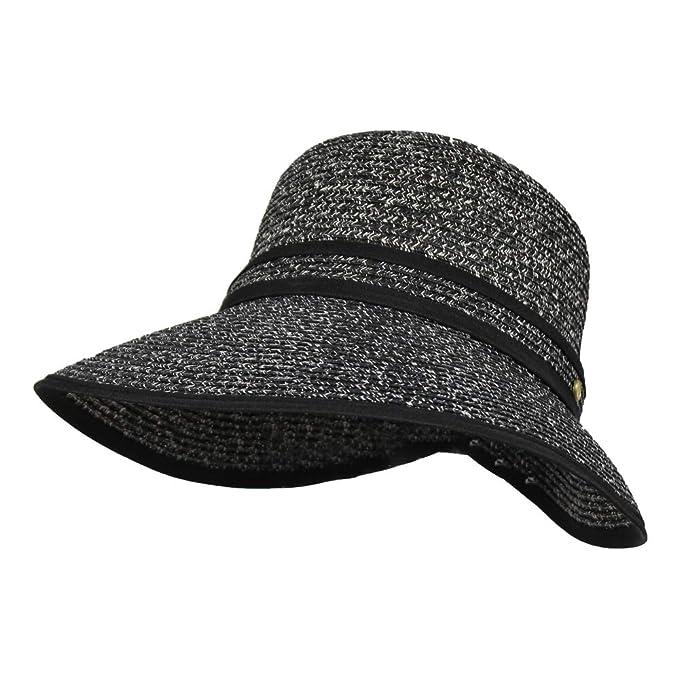fc401f025 Facesaver Cloche Straw Sun Hat – 5inch Wide Brim, UVB 50+ UV Blocking  Protection