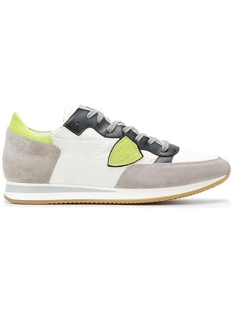 2e57a63d1ef Philippe Model Tropez - Zapatillas Para Hombre Blanco Bianco Giallo Nero  Blanco Size  43 EU  Amazon.es  Zapatos y complementos