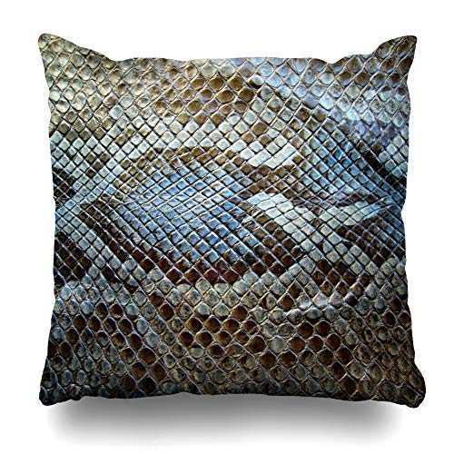 KJONG The Texture of Snake Skin an Animated Background Zippered Pillow Cover,18 x 18 inch Square Decorative Throw Pillow Case Fashion Style Cushion Covers(Two Sides Print) ()