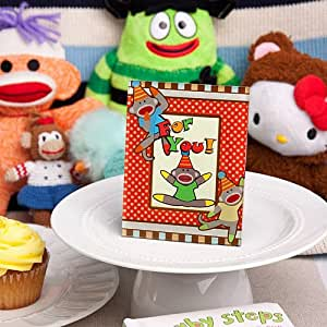 Amazon.com: 12 Cheery Sock Monkey Picture Place Card
