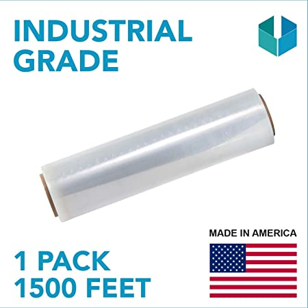 Durable Self 2 Pack Industrial Strength Mini Hand Stretch Wrap 5-1000 Roll Adhering Packing ● Furniture ● Packaging ● Heavy Duty Shrink Film 80 Gauge Thick Clear Cling Plastic Moving Supplies