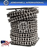 60 Roller Chain Standard 100FT Roll with 10 Connecting Links. Single Strand