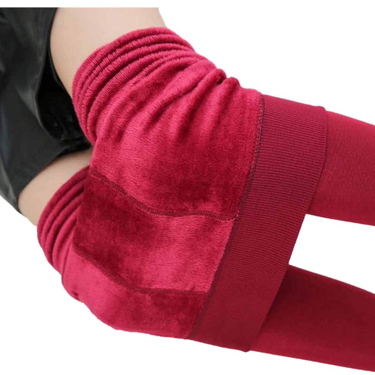 Pantal/ón Mujer de Ba Zha Hei Pantalones El Invierno de Las Mujeres Grueso Grueso c/álido Forrado t/érmico el/ástico Leggings Pantalones Winter Thick Warm Fleece Lined Thermal Stretchy Leggings Pants
