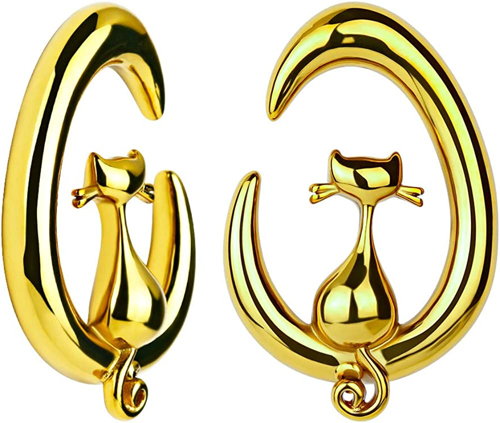 KUBOOZ Ear Weights Tapers Stretched Hangers Heavy
