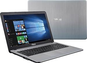 2016 Newest ASUS 15.6 High Performance Premium HD Laptop (Intel Quad Core Pentium N3700 Processor up to 2.4 GHz, 4GB RAM, 500GB HDD, SuperMulti DVD, WiFi, HDMI, VGA, Webcam, Windows 10-Silver)