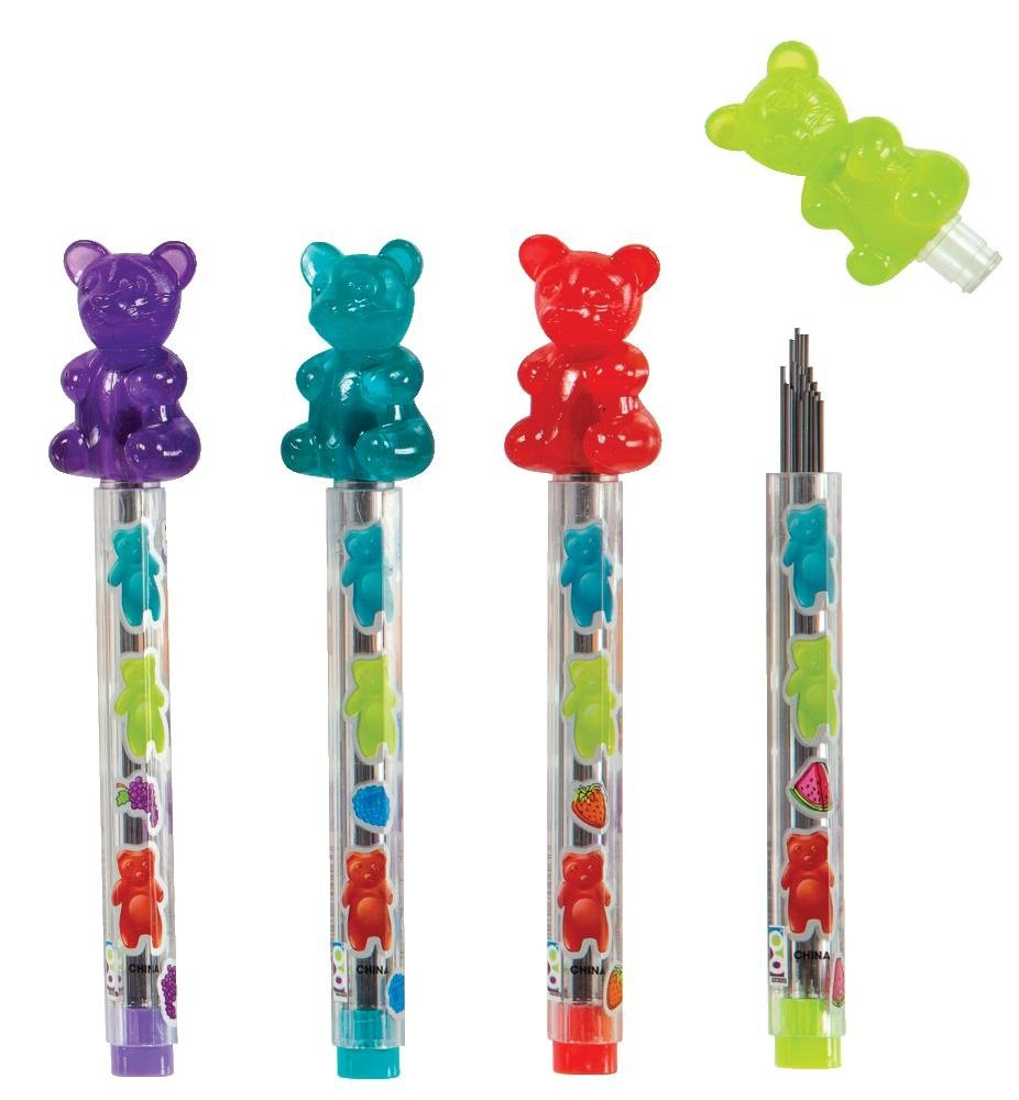 Raymond Geddes Scented Gummy Bear Mechanical Pencil Lead Refill, 24 Pack (70016)