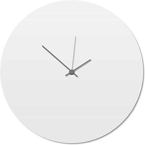 Metal Art Studio Contemporary Clock 'Whiteout Grey Circle Clock'