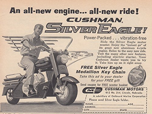 Used, 1961 Cushman Silver Eagle: All New Engine All New Ride, for sale  Delivered anywhere in USA
