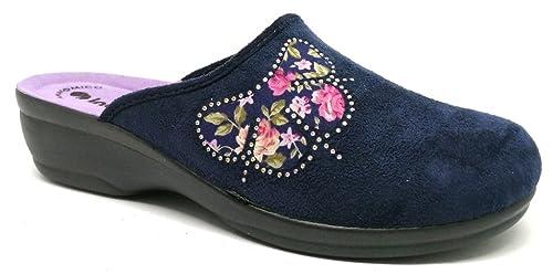 INBLU - Zapatillas de estar por casa de tela para mujer azul turquesa 38 azul Size: 41 WK1EZ
