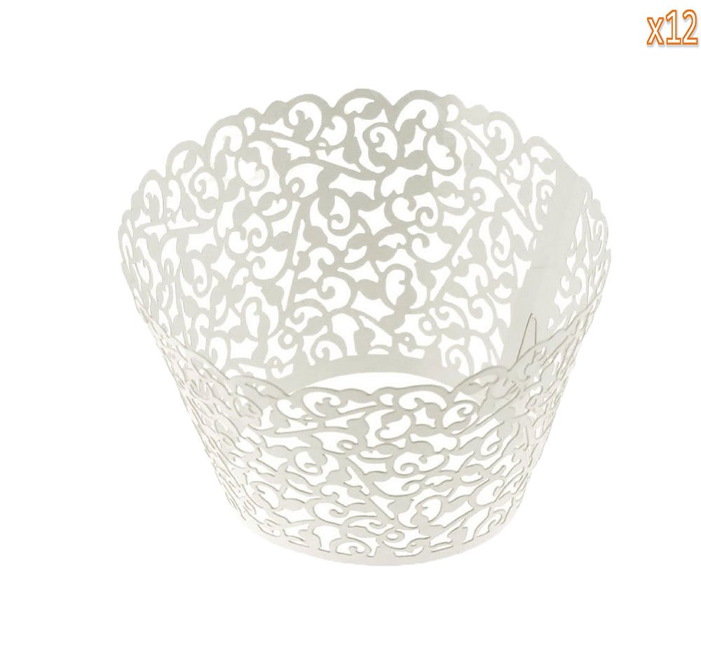 Leegoal Muffin Case Cupcake Papper Cup Liner Birthday Wedding Cake Wrapper (108pcs,White)
