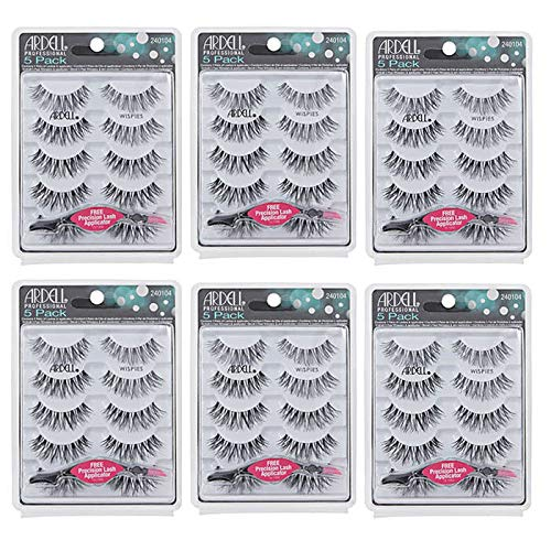 Ardell Wispies Lashes with Free Applicator - 6 Packs Of 5 Pairs