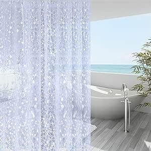 Amazon Com Wellcolor Shower Curtain Liner 36x72 Inch 3d Eva