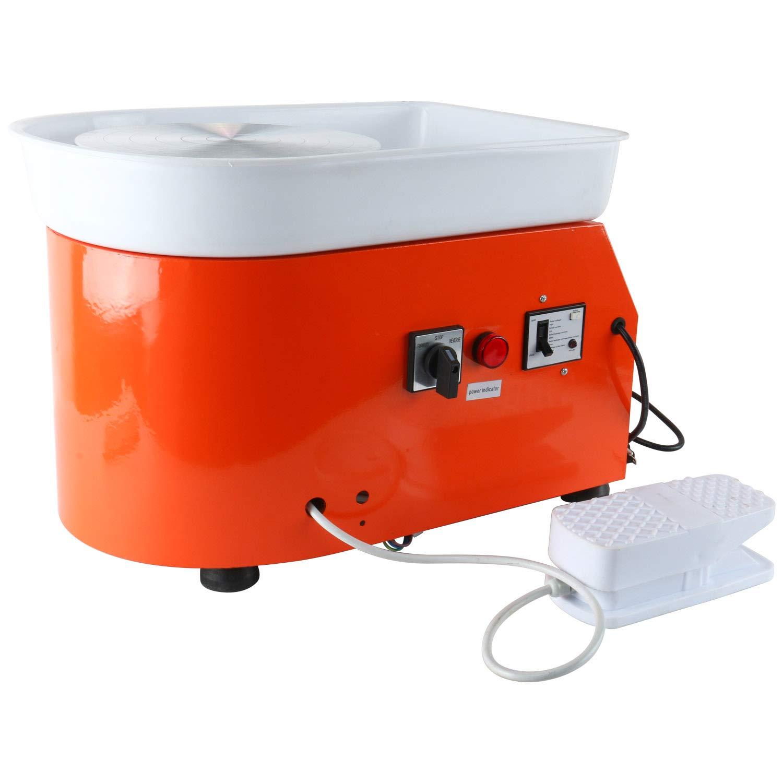 YaeTek 25CM 350W Electric Pottery Wheel Machine Ceramic Work Clay Art Craft 110V US Plug