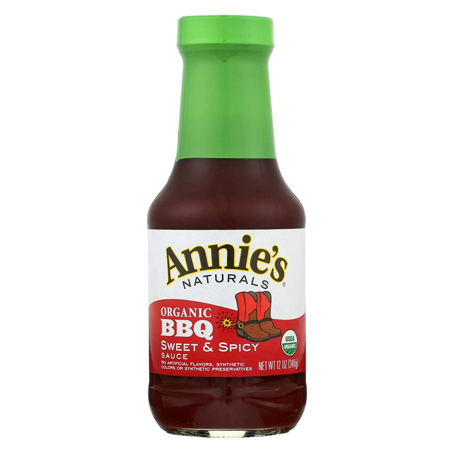 Organic Sweet & Spicy BBQ Sauce 12 Ounces (Case of 12)