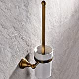 Leyden Antique Bathroom Accessories Brass Toilet Brushes holders Lavatory Accessories Wall maounted