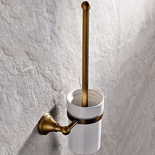Leyden Antique Bathroom Accessories Brass Toilet Brushes holders Lavatory Accessories Wall maounted by Leyden
