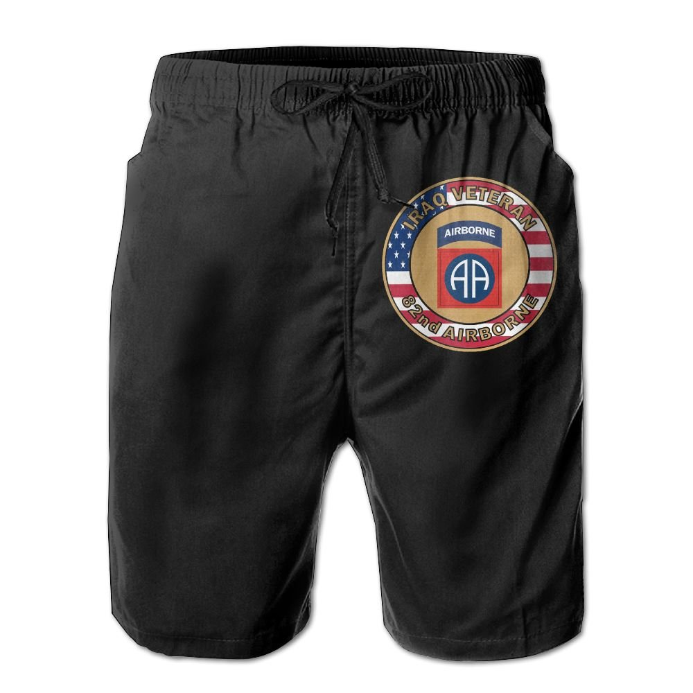 Inlenged 82nd Airborne Division Military Logo Mens Casual Shorts Swim Trunks Fit Performance Quick Dry Boardshorts